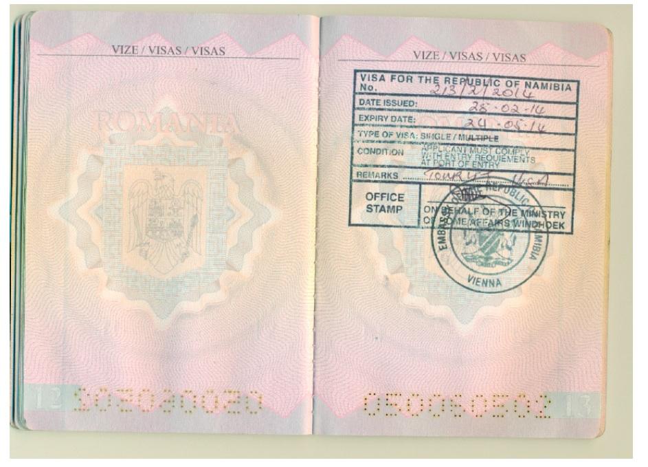 viza namibia